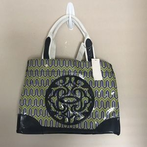 Steve Madden Simply Green Geometric Tote NEW